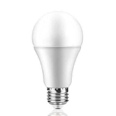 LED Sensor Light Bulb E27 Base Auto ON/OFF for Porch Hallway Patio Garage Cool White