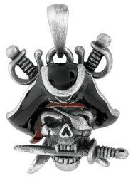 Davy Jones Pirate Skeleton Collectible Skull Pendant Necklace Jewelry