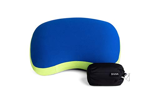 DUSK Camping, Backpacking Pillow - Inflatable, Soft, Lightweight, Comfortable, Compact Pillow with Water-Resistant Portable Bag
