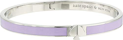 (Kate Spade New York Women's Heritage Spade Thin Enamel Bangle Bracelet, Frozenila, Purple, Silver, One)