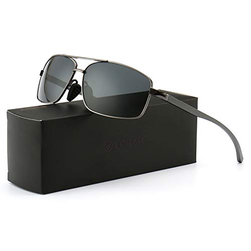 SUNGAIT Ultra Lightweight Rectangular Polarized Sunglasses...
