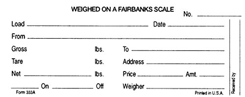 Rice Lake Truck Scale Weigh Tickets Carbon for Fairbanks ...