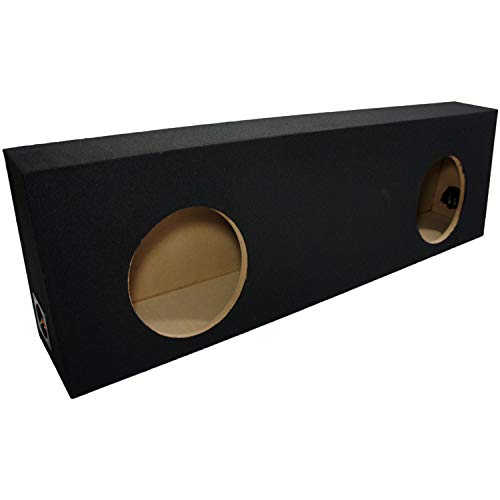 Dual 10 Subwoofer Regular Standard Cab Truck Sub Box Enclosure 5/8 MDF - Black