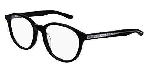Balenciaga BB0042OA Eyeglasses 001 Black-Black 51mm