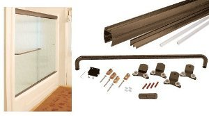CRL Oil Rubbed Bronze 72'' x 72'' Cottage CK Series Sliding Shower Door Kit With Clear Jambs for 3/8'' Glass - CK3872720RB