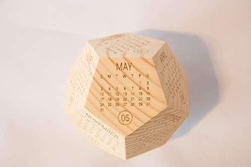 Wooden Box Calendar 2020, Printable Calendar, New Year Employee Gift, Desk Decor, Calendar Planer, Calendar Gift, Office Calendar, Co-Worker
