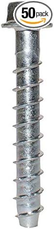 Galv 3//8 x 3 50ct Simpson Strong-Tie THD37300HMG Titen HD Concrete Anchor