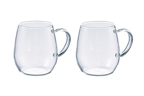 Hario RDM-1824 Coffee Tea Mugs, 360 ml, Glass