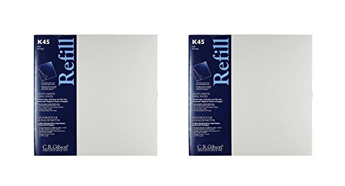 C.R. Gibson K45 Unimount Magnetic Sheet Refills for the P45 and P3X Series Photo Albums, 12x12