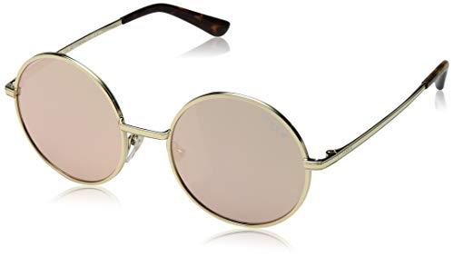 VOGUE Women's 0vo4085s Non-Polarized Iridium Round Sunglasses, PALE GOLD, 50.0 mm