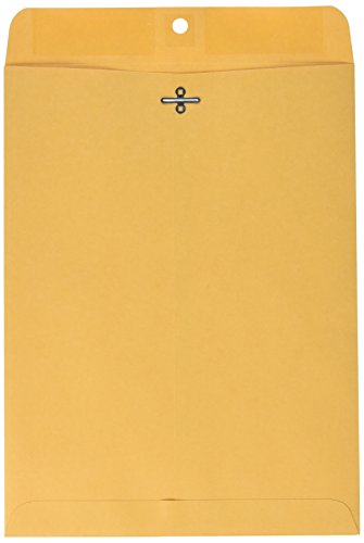 Sparco Clasp Envelope, 32 lbs, 9 x 12 Inches, 100 per Box, Kraft (SPR09090)