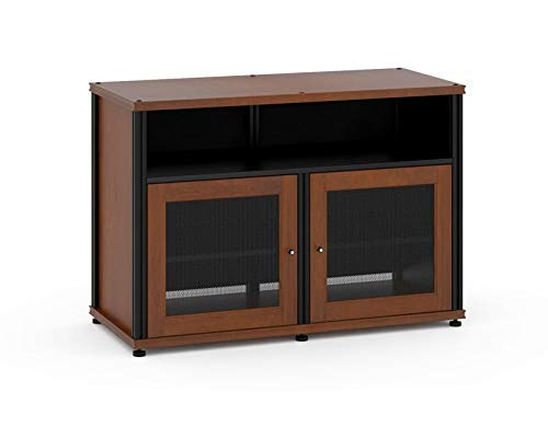Salamander Synergy 329  A/V Cabinet w/ Two Doors & Center Channel Shelf  (Cherry/Black)