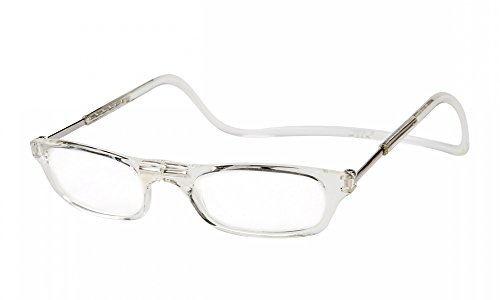 Clic Magnetic Long Size Reading Glasses in Clear +2.00
