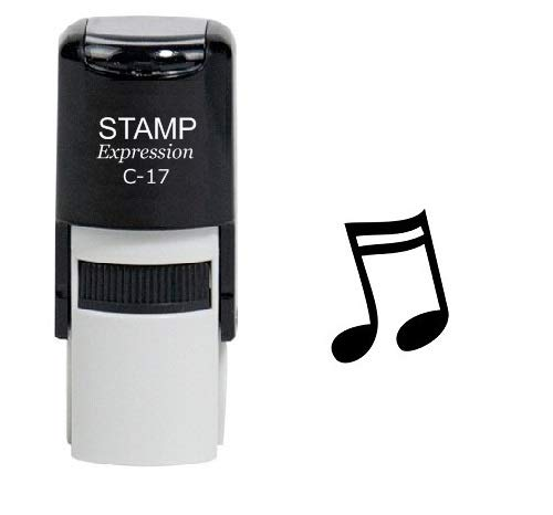 StampExpression - Sixteenth Note Music Self Inking Rubber Stamp - Black Ink (A-6048)