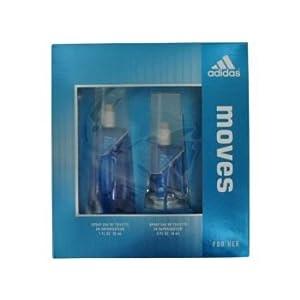 Adidas Moves for Her Gift Set 1.0 Fl. Oz Eau De Toilette Spray .5 Oz. Eau De Toilrtte Spray