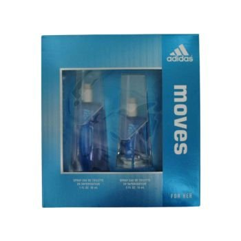 Adidas Moves for Her Gift Set -1.0 Fl. Oz Eau De Toilette Spray-.5 Oz. Eau De Toilrtte Spray