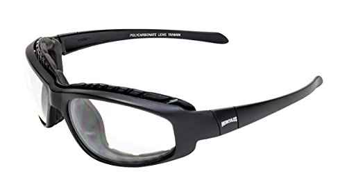 Global Vision Eyewear HERC 2 PL CL Hercules 2 Plus Safety Foam Padded Glasses, Clear Lens, Frame, Black (Plus Black Frame Clear Lens)