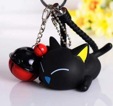 Cat Pompom Balls Cute Creative Black Cat Keychain Kitty Rabbit