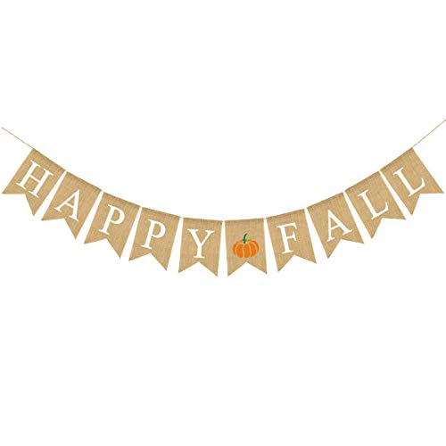 Happy Fall Banner Thanksgiving Bunting Banner Give Thanks Party Decoration Fall Pumpkin Party Decorations Happy Thanksgiving -