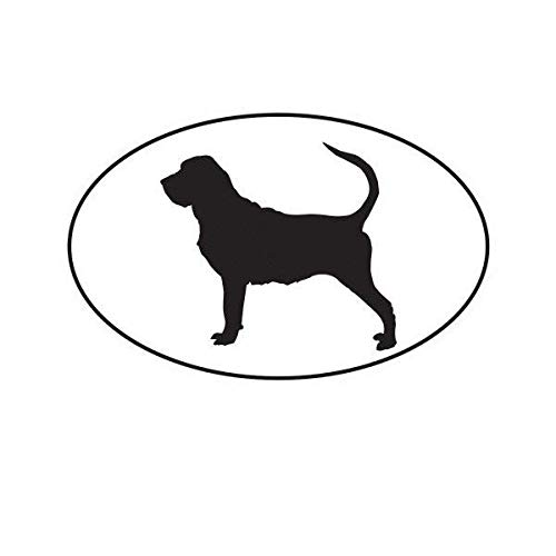 ION Graphics Bloodhound Euro Oval Sticker Decal Vinyl Dog Canine 5
