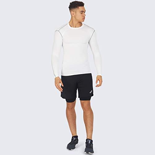 PowerLayer Men's and Boy's Compression Baselayer Top Long Sleeve Under Shirt - Crew Neck/Mock Neck