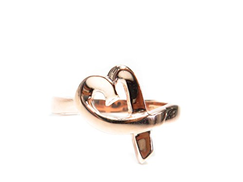 Custom Made Genuine 14K Rose Yellow Gold Hip Hop Style Heart-shape Band Ring (rose-gold, 6.5) by Traxnyc