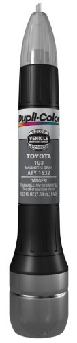 Dupli-Color ATY1632 Magnetic Gray Toyota Exact-Match Scratch Fix All-in-1 Touch-Up Paint - 0.5 oz (0.25 oz. paint color and 0.25 oz. of clear)