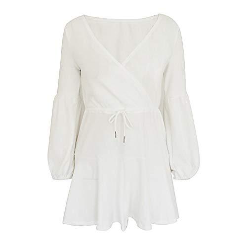 Mujer White Un Vaina Vestido Color TTSKIRT XL Mini UxCqPdRRwt