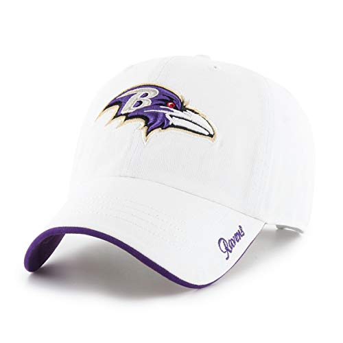 Baltimore Ravens Womens Hats - NFL Baltimore Ravens Women's Accolade OTS Challenger Adjustable Hat, White, Women's