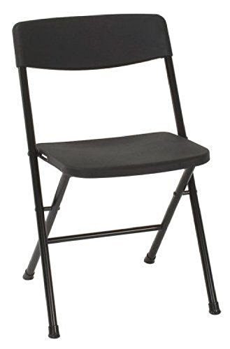 Cosco Resin 4-Pack Folding Chair w/ Molded Seat + Back Camping Cookout Chair by BestdealForever Home Series