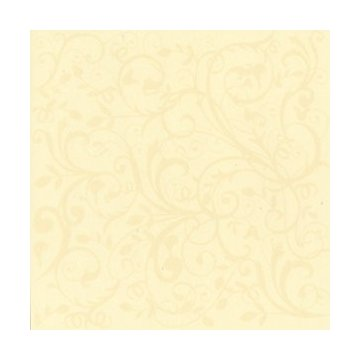"Bazzill Glazed Cardstock 12""X12""-Sugar Cookie With Winter Vine"