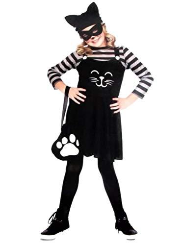 (Girls Cat Burglar Child Halloween Costume Hat Dress Medium)