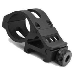 1″ 25mm Diameter Offset Ring 20mm Rail 45 Degree Side Picatinny Mount for Flashlight/laser Surefire Light, Outdoor Stuffs