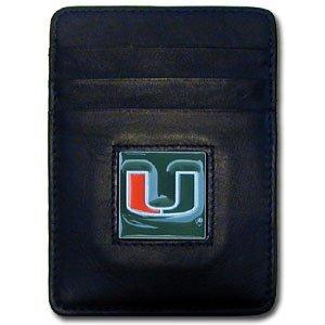 Siskiyou NCAA Miami Hurricanes Leather Money Clip/Cardholder