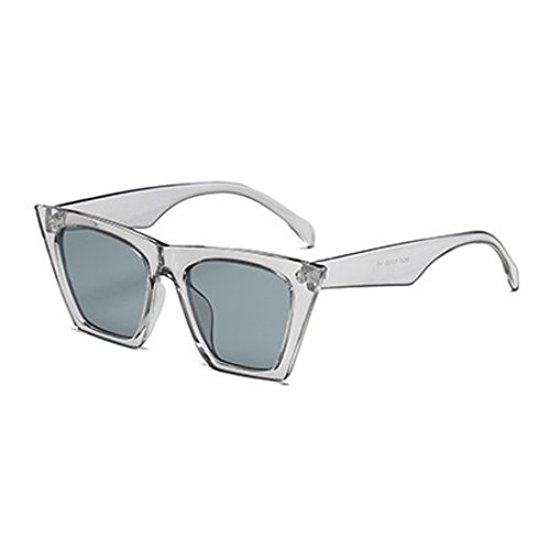 Cat Vintage Yefree Sunglasses Oval marco Lens Retro Style Eye Women Gris plástico 5r5OcptS