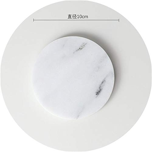 Creative Luxury Marble Ceramic Coaster Drink Coffee Cup Mat Tea Pad Dining Table Placemats Table Black White Decoration 1PCS,4 (Maxx Placemats Tj)