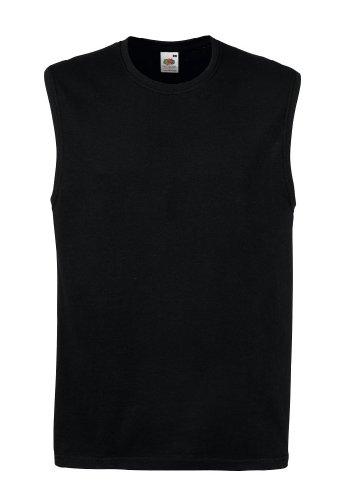 Fruit of the Loom Herren T-Shirt ohne Ärmel 61-222-0 Black M