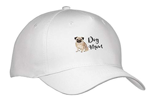 Stationery Hat (Becky Nimoy Stationery – Animals - Brushed Lettering Dog mom and Watercolor Pug Illustration - Caps - Adult Baseball Cap (Cap_289200_1))