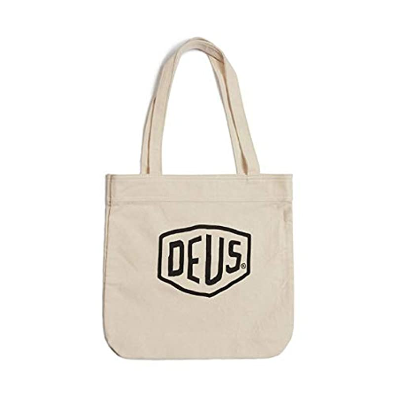 DEUS EX MACHINA (Deus 엑스 마키《나》) 코튼 캔버스 토트백 CLASSIC TOTE - NATURAL DMP77431 SHIELD 정평(스테디셀러) 로고