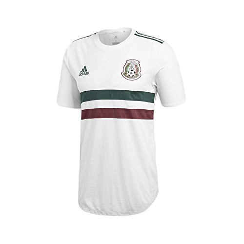 adidas Mexico Men's Authentic Away Soccer Jersey S/S World Cup Russia 2018 (L) ()