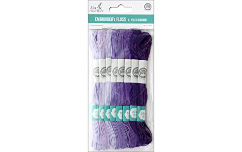Needlecrafters Cotton Embroidery Floss, 8m, Purples