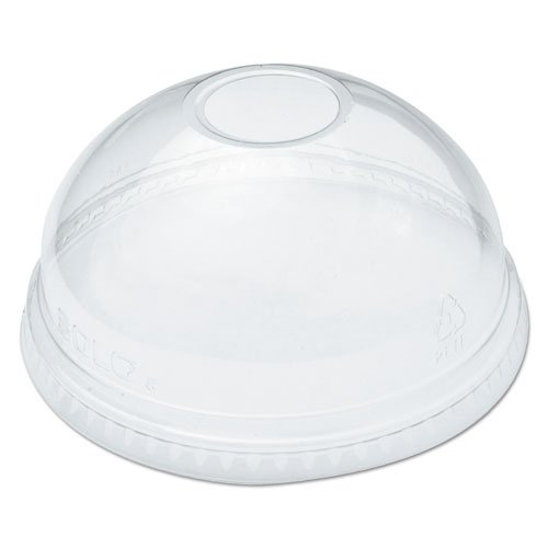 (DART DLR626PK Ultra Clear Dome Cold Cup Lids f/16-24 oz Cups, PET, 100/Pack)