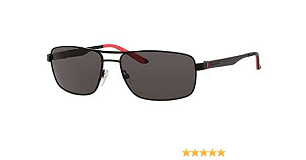 cb68b22b93 Amazon.com  Carrera 8011 S Sunglasses Matte Black Gray Polarized  Clothing