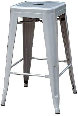Sunjoy Group INTL PTE S-DNC1267PST 27 Silver Stackable Metal Barstool