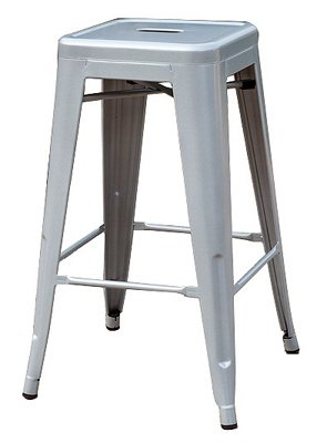 Sunjoy Group INTL PTE S-DNC1267PST 27'' Silver Stackable Metal Barstool