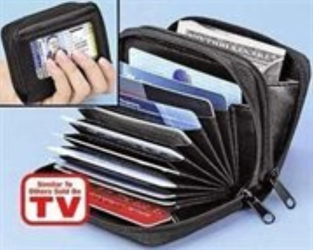 Men/'s bi-fold Leather Wallet 7 credit debit card ID Change purse 2 billfold BN