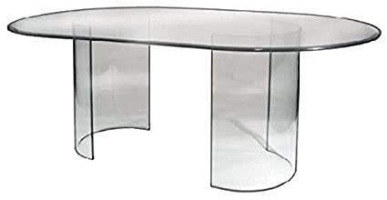 amazon com see glass dining table base only tables rh amazon com glass dining room table with metal base glass dining room table with marble base