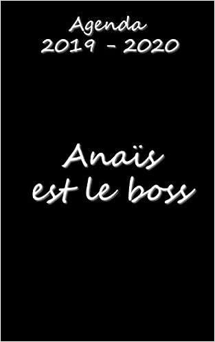 Agenda 2019 - 2020 Anaïs est le boss: Amazon.es: Collectif ...