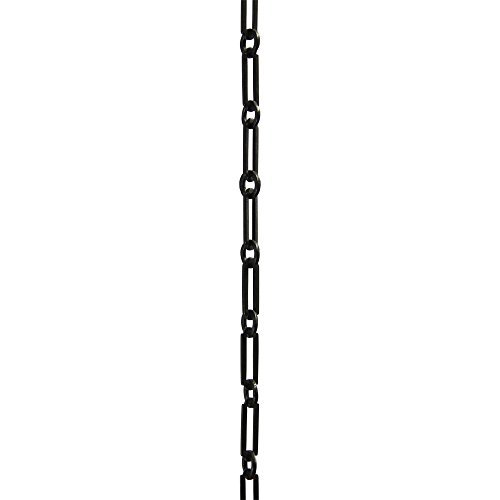 RCH Hardware CH-21-OBB-3 Decorative Oil Bronzed Black Solid Brass Chain for Hanging, Lighting-Rectangles with Circular Connecting Rings and Welded Links (3 ft/1 Yard)