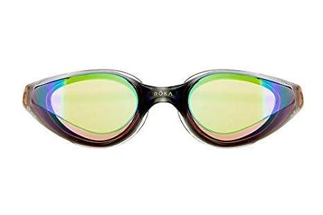 827f131226 ROKA R1 Anti-Fog Swim Goggles with RAPIDSIGHT Razor Sharp Optics 2018 -  Amber Mirror